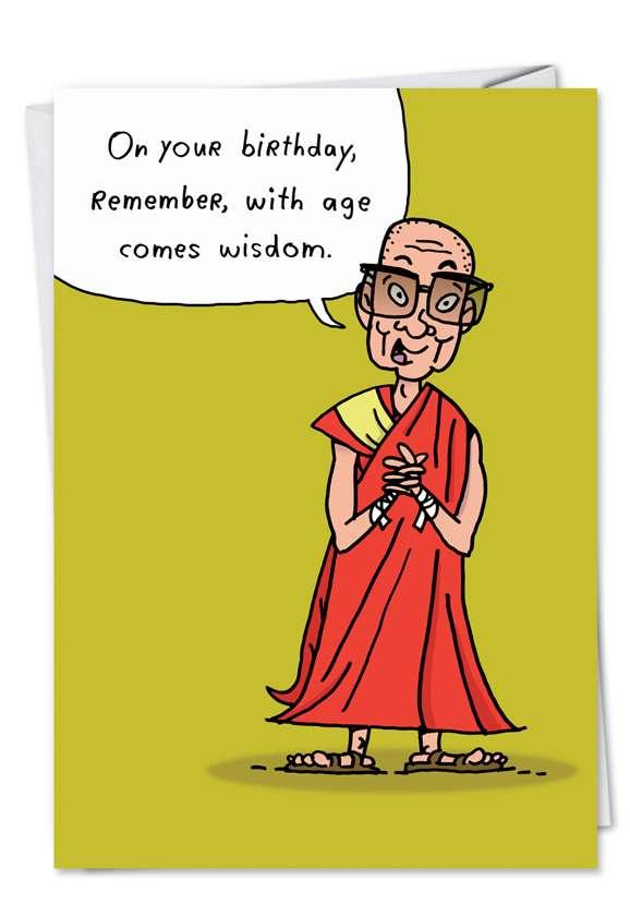 Age Wisdom: Hysterical Birthday Printed Card