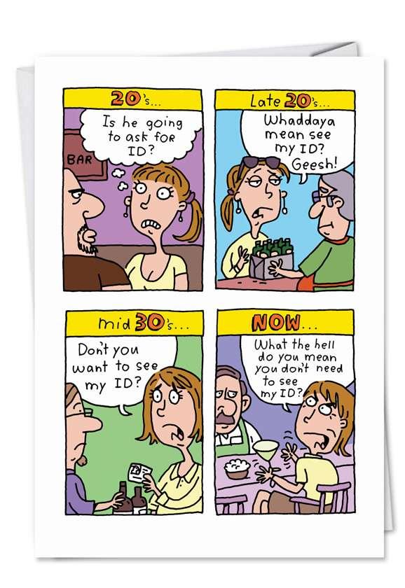 ID: Humorous Birthday Paper Greeting Card