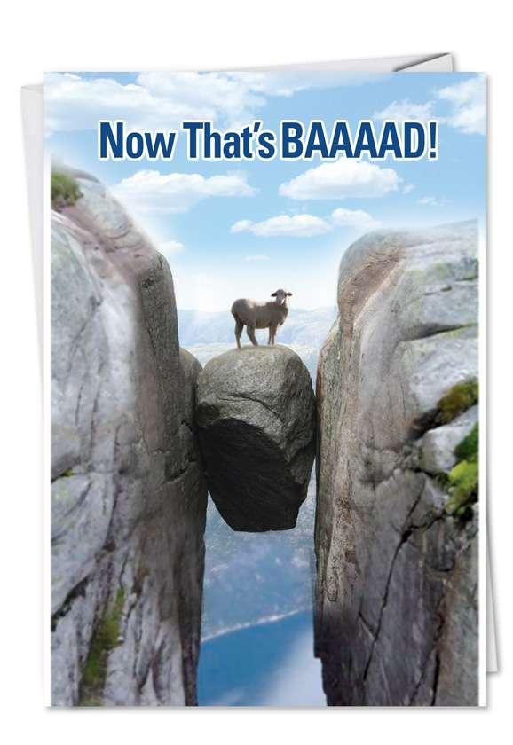 BAAAAD Luck: Hilarious Get Well Printed Greeting Card