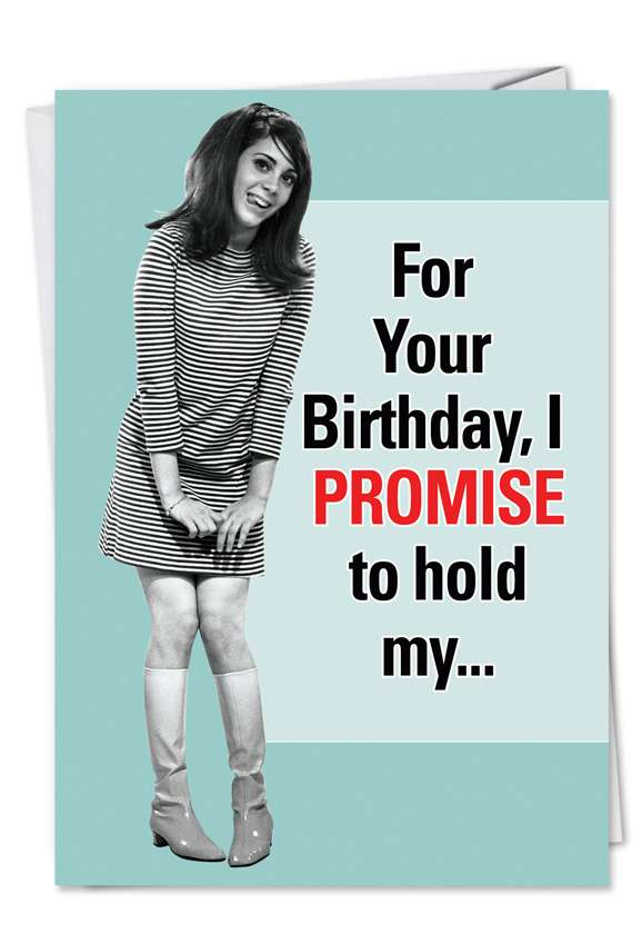 Hold Fart Until Hurts: Hilarious Birthday Greeting Card