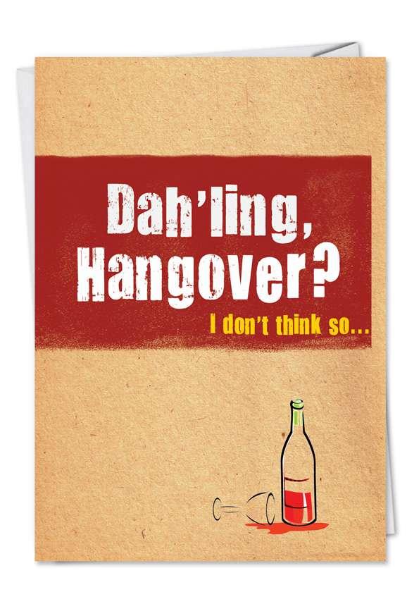 Wine Flu: Hilarious Get Well Printed Greeting Card