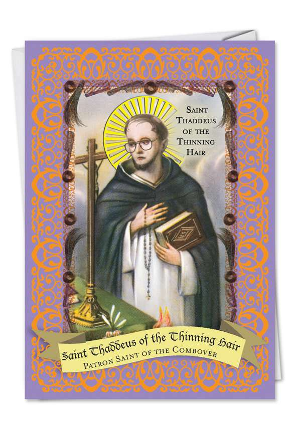 St. Thaddeus: Hilarious Father's Day Paper Card