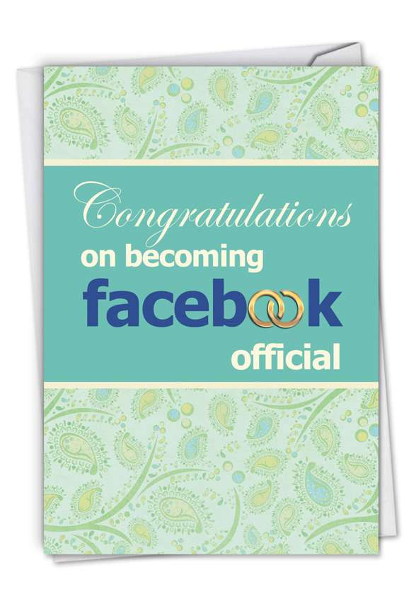 Facebook Official: Hysterical Wedding Greeting Card