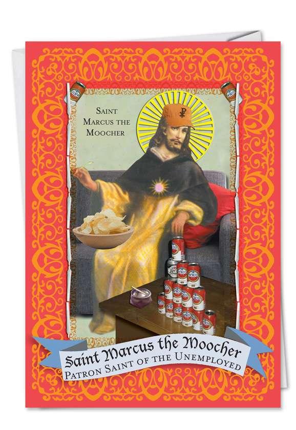 St. Marcus: Humorous Graduation Printed Greeting Card