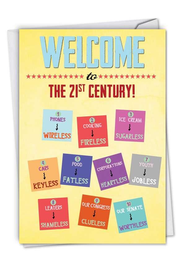 Ageless Birthday: Hysterical Birthday Paper Greeting Card