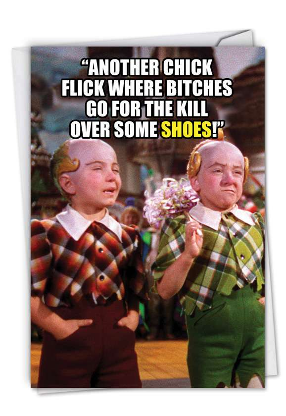 Go for Broke Over Shoes: Humorous Birthday Greeting Card