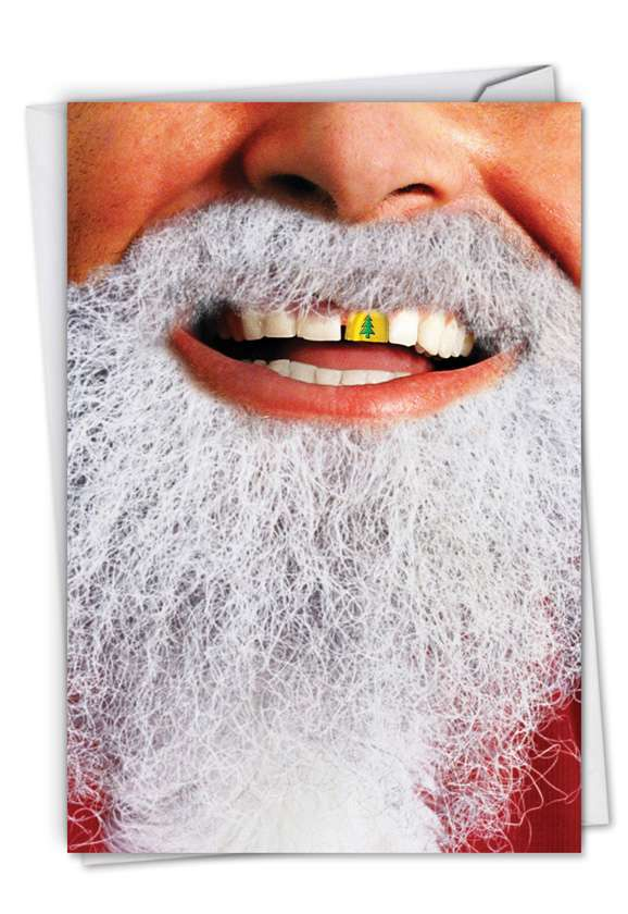 Gold Tooth Santa: Funny Christmas Paper Card