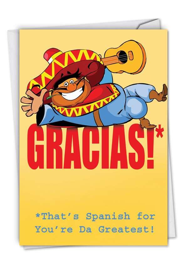 Gracias: Hilarious Thank You Printed Greeting Card