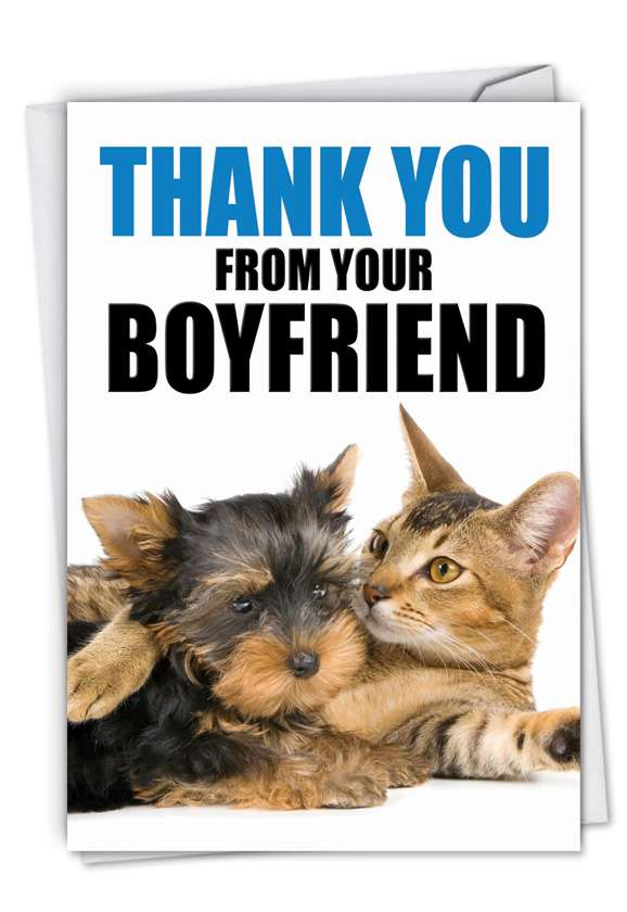 Thank You from Your Boyfriend: Hysterical Thank You Printed Card
