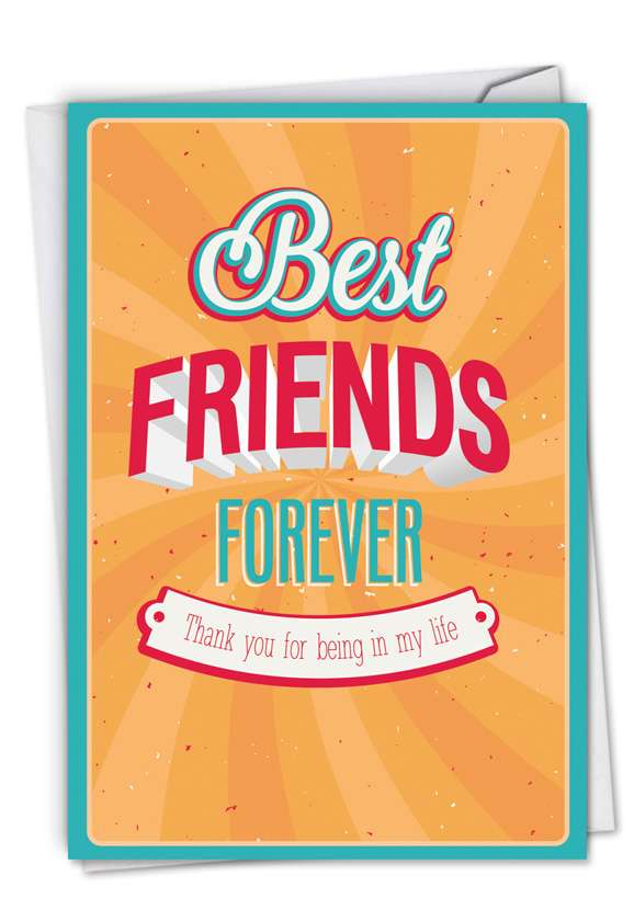 Best Friends Forever: Hysterical Thank You Paper Greeting Card