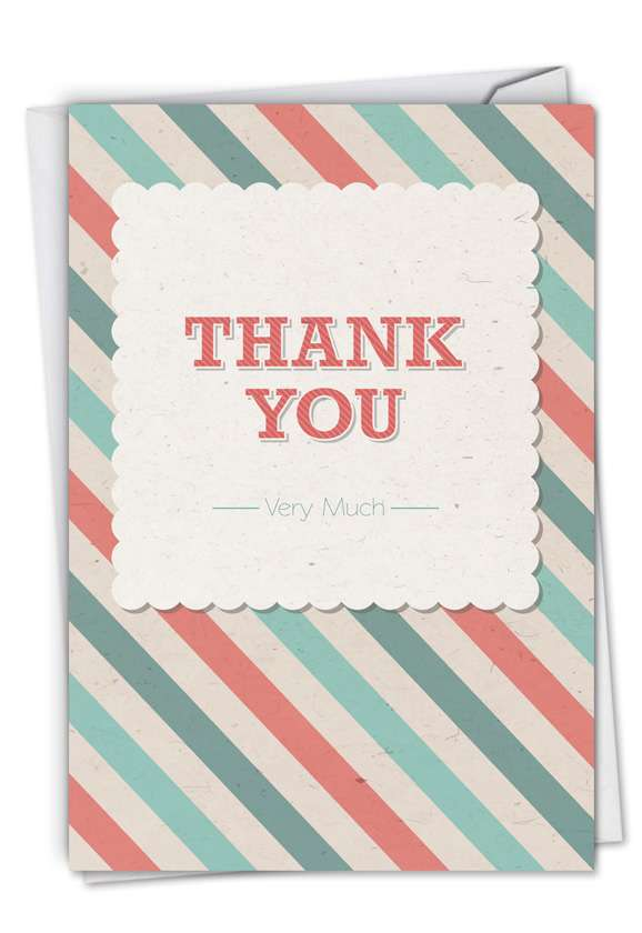 Candy Stripe: Funny Thank You Printed Greeting Card