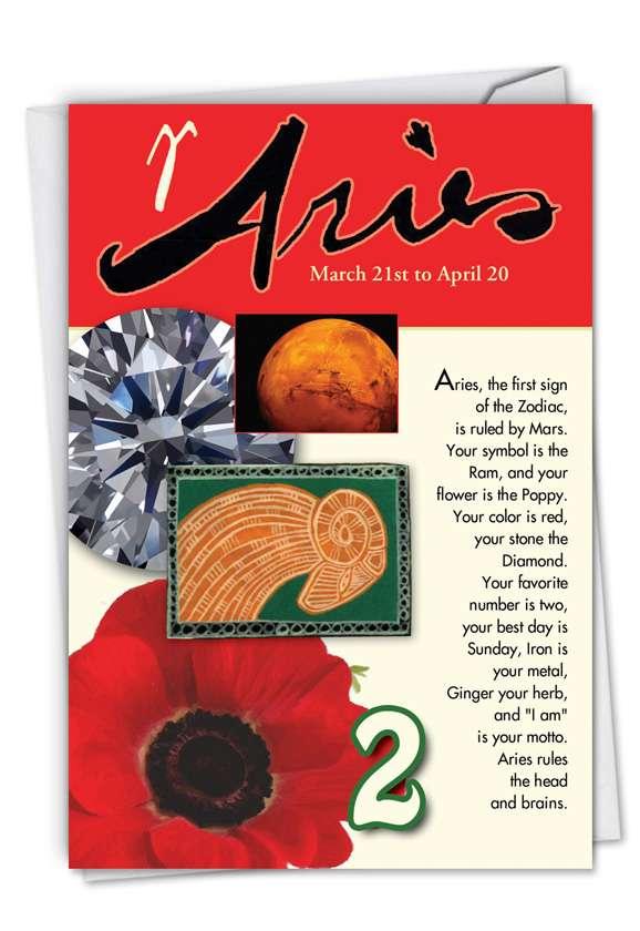 Aries: Funny Birthday Greeting Card