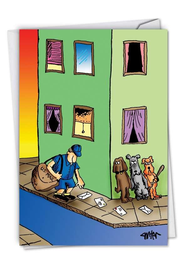 Mailman Corner: Funny Birthday Printed Card