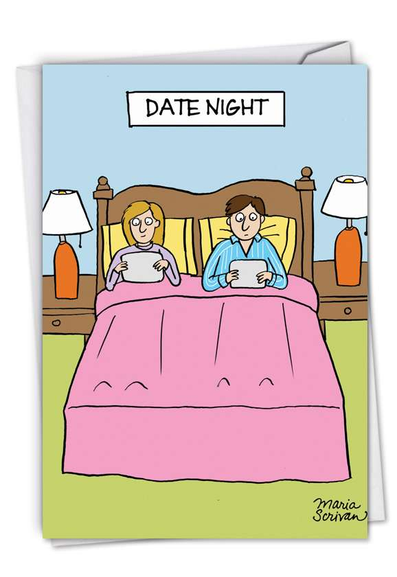 Date Night: Funny Blank Paper Card