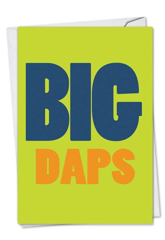 Big Daps: Hilarious Congratulations Printed Greeting Card