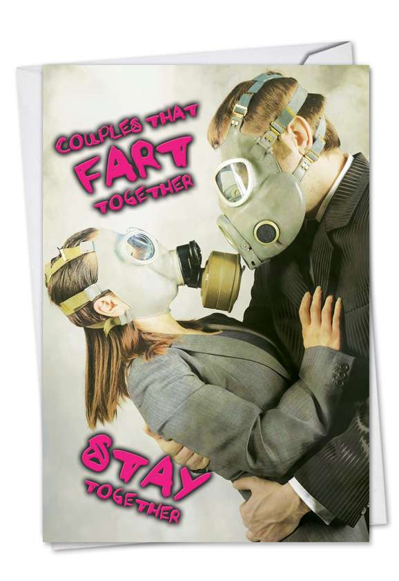 Fart Together: Funny Anniversary Paper Greeting Card
