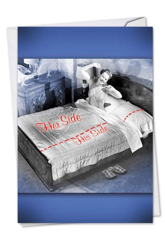 Her Side: Humorous Anniversary Printed Greeting Card