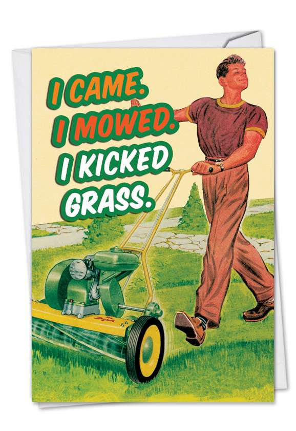 Kick Grass: Hysterical Birthday Father Greeting Card