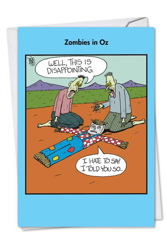 Zombies In Oz: Hysterical Birthday Printed Card