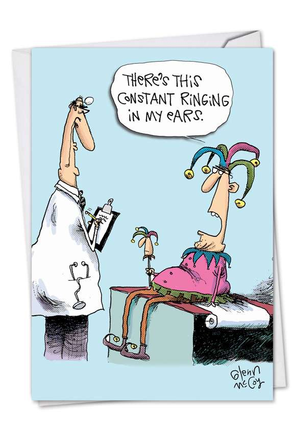 Constant Ringing: Humorous Get Well Printed Greeting Card