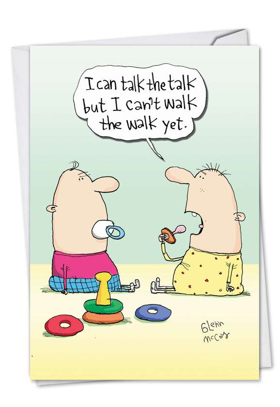 Talk The Talk: Humorous Baby Greeting Card
