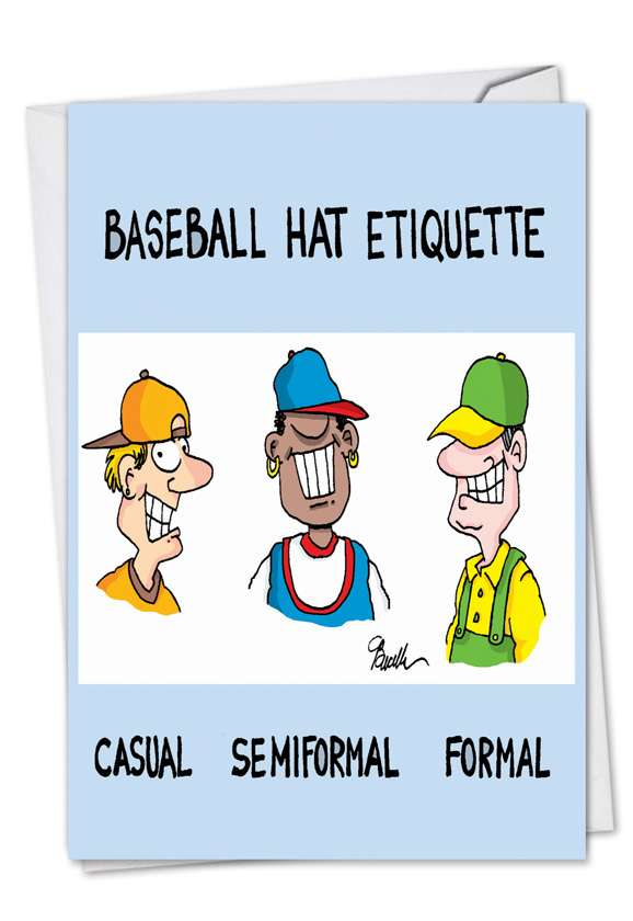 Hat Etiquette: Hilarious Birthday Greeting Card