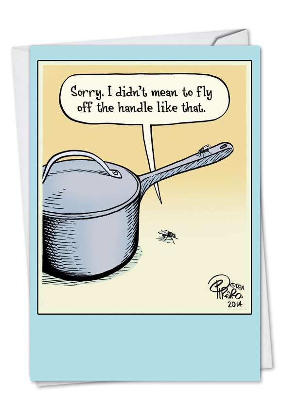 Fly Off The Handle: Hilarious Sorry Printed Card