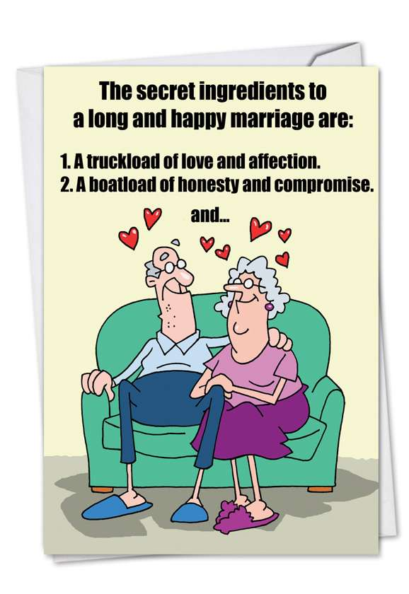 Marriage Secrets: Humorous Anniversary Paper Greeting Card
