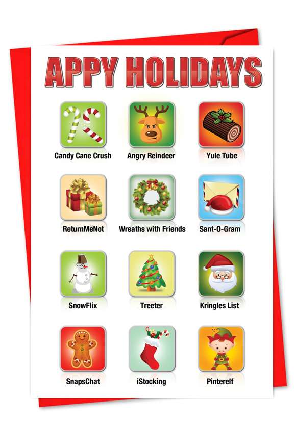 Appy Holidays: Hilarious Christmas Greeting Card