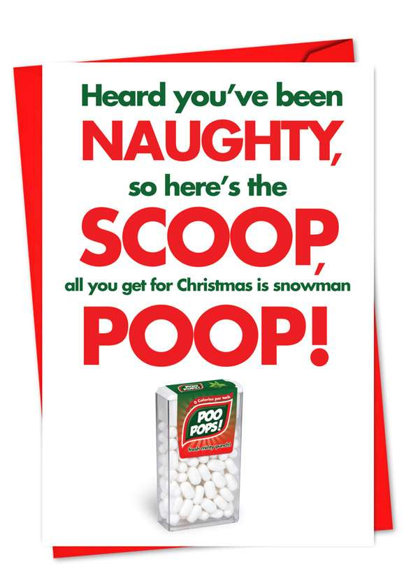 Snowman Poop: Hilarious Christmas Paper Card