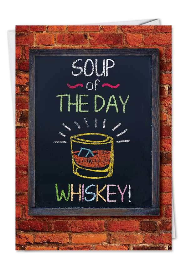 Soup of the Day: Funny Get Well Paper Card