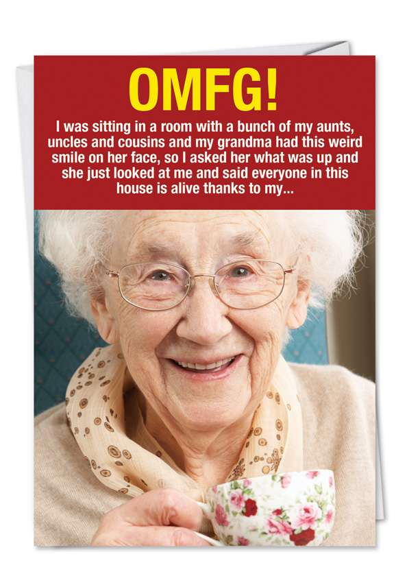 Weird Grandma: Hysterical Birthday Printed Card