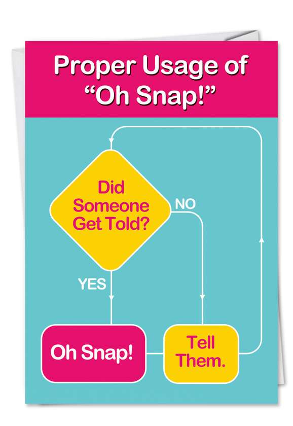 Oh Snap: Humorous Birthday Printed Card