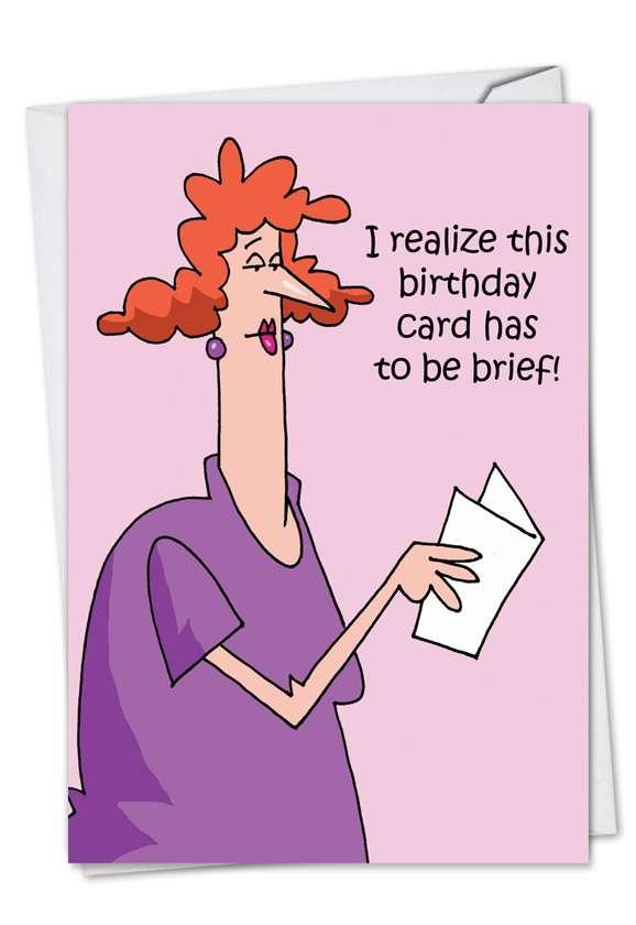 Brief: Humorous Birthday Paper Card