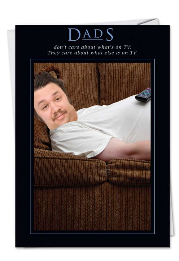 Carefree Couch Potato: Funny Birthday Father Paper Card