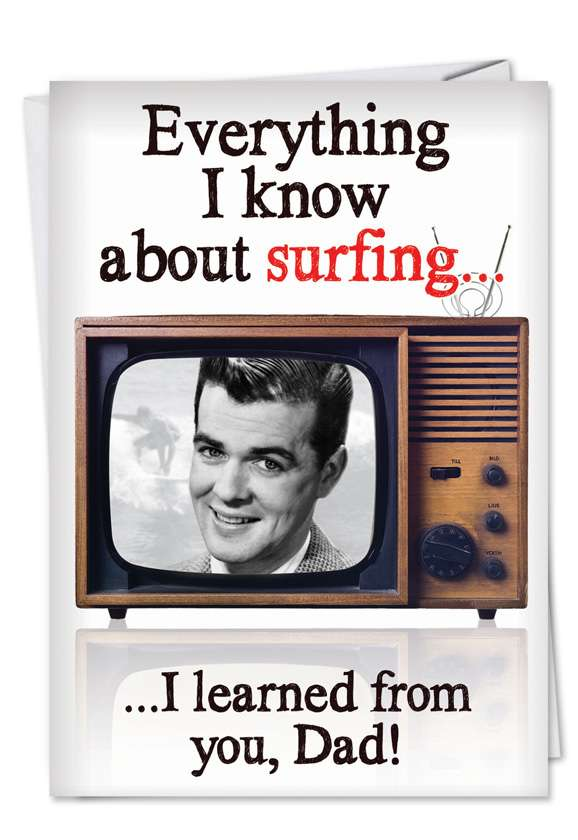 Channel Surfing: Hilarious Birthday Father Greeting Card