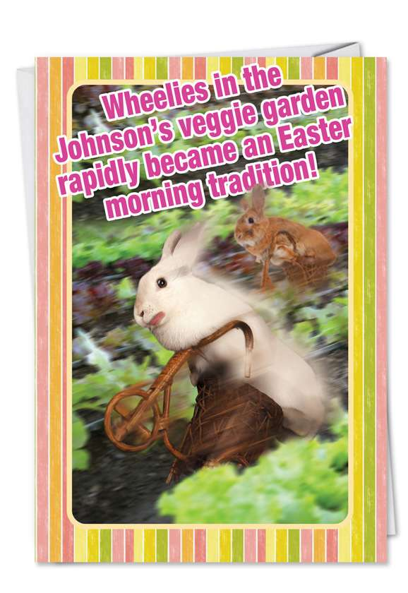 Easter Bunny Dead: Funny Easter Printed Card