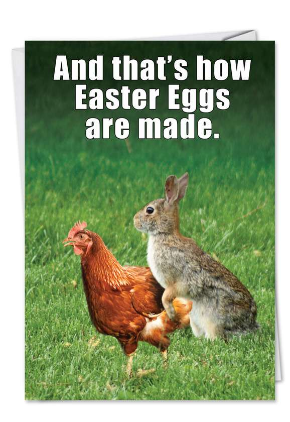 Easter Eggs Made: Humorous Easter Greeting Card