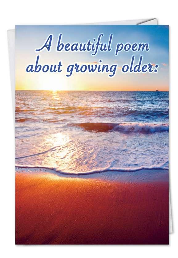 Beautiful Poem: Funny Birthday Paper Card