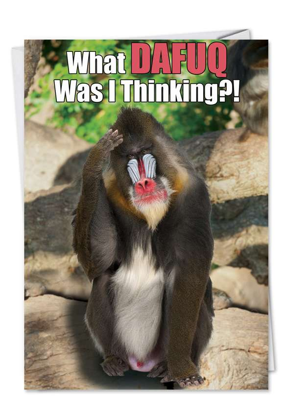 DAFUQ: Hilarious Birthday Printed Greeting Card