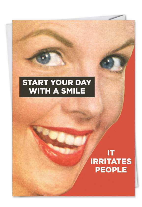 Start With Smile: Hilarious Get Well Paper Greeting Card