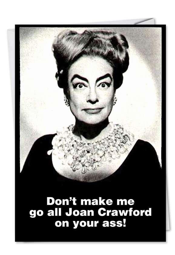 Joan Crawford: Humorous Get Well Printed Greeting Card