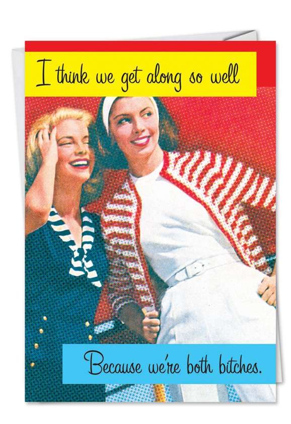 Both Bitches: Funny Friendship Paper Card