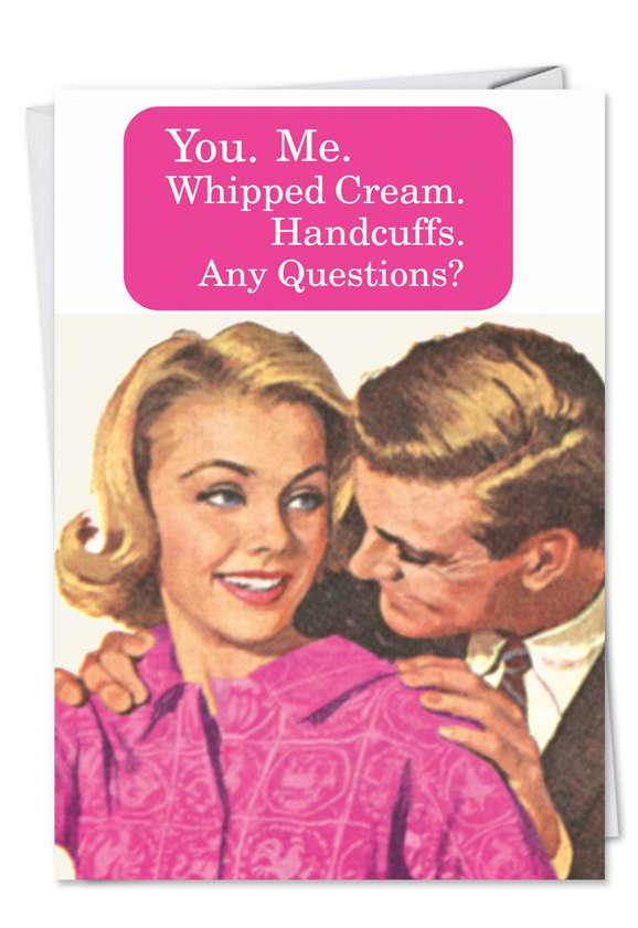 Whipped Cream Card Card