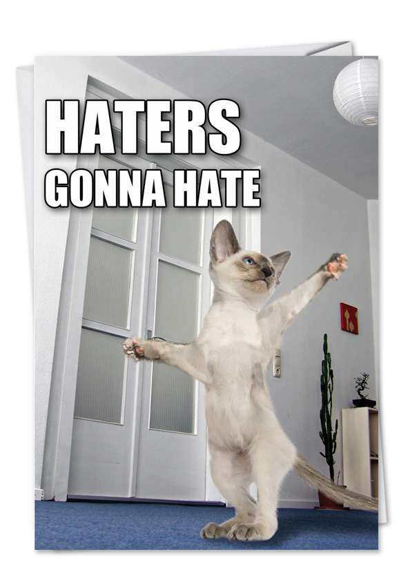 Haters: Funny Birthday Printed Card