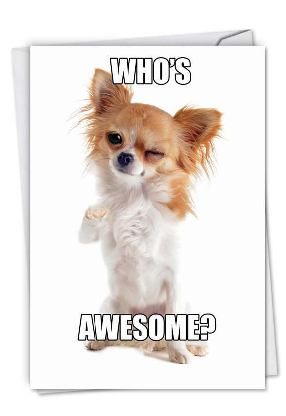 Who's Awesome: Hilarious Birthday Paper Card