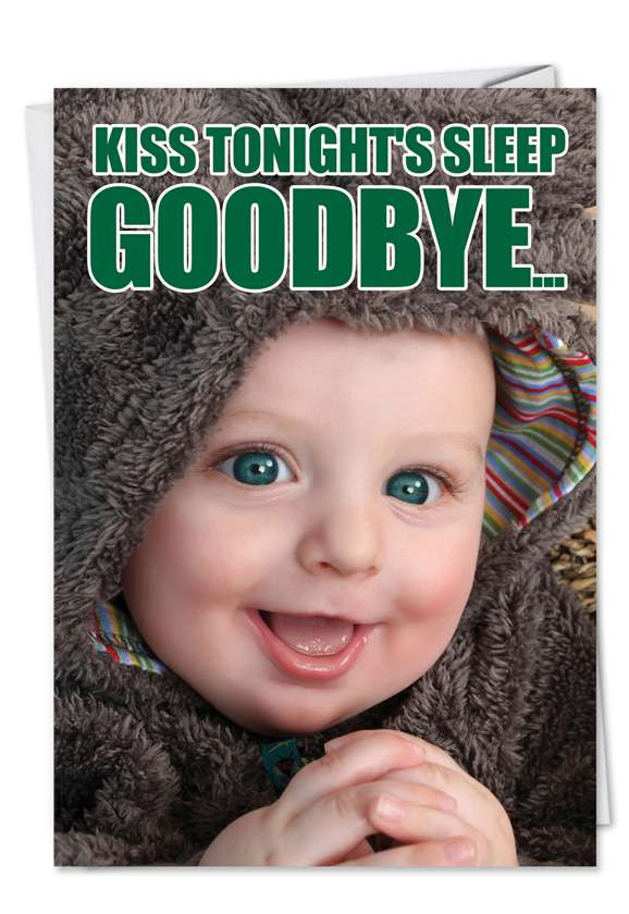 Tonight's Sleep: Funny Birthday Paper Card