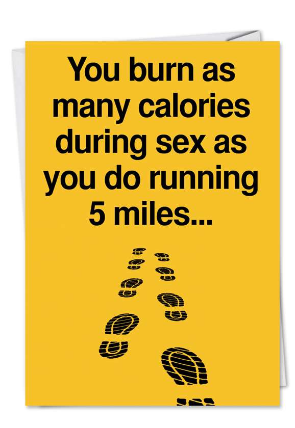 Five Miles: Humorous Birthday Paper Card