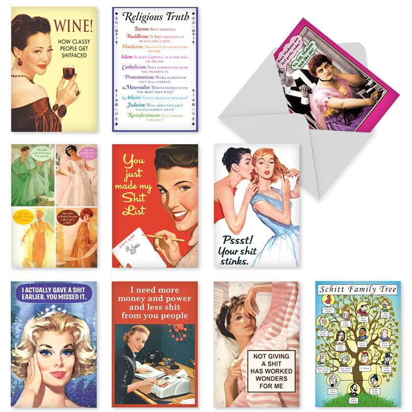 Stinkin Cards: Funny Birthday Assortment of 10 Cards