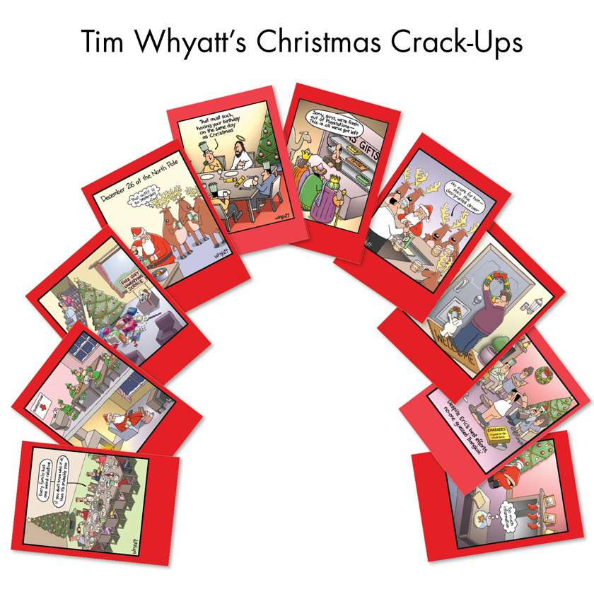 Tim Whyatt's Christmas Crack-Ups: Hysterical Christmas Assorted Set of 10 Cards